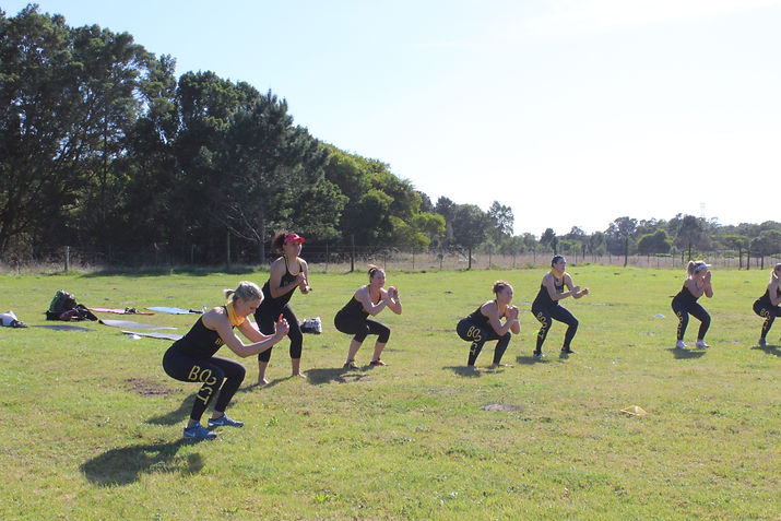 Boost Ladies Team landed on Air Squats