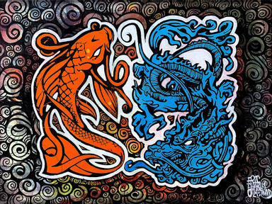 KOI & DRAGON - 鯉と龍