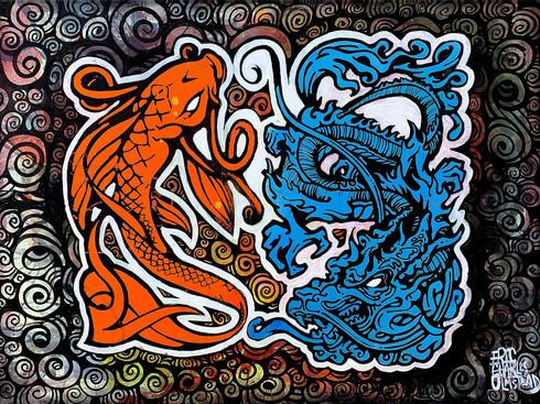 KOI & DRAGON - 鯉と龍
