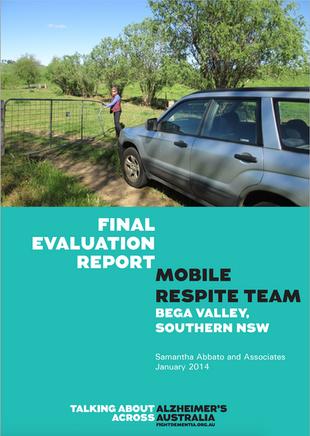 Mobile respite Team Evaluation publication (2013-2015) Photo of gate cover