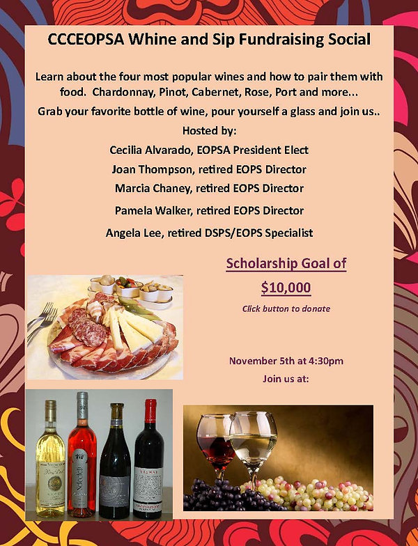 Whine and sip flyer