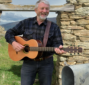 Roger Lusby with guitar