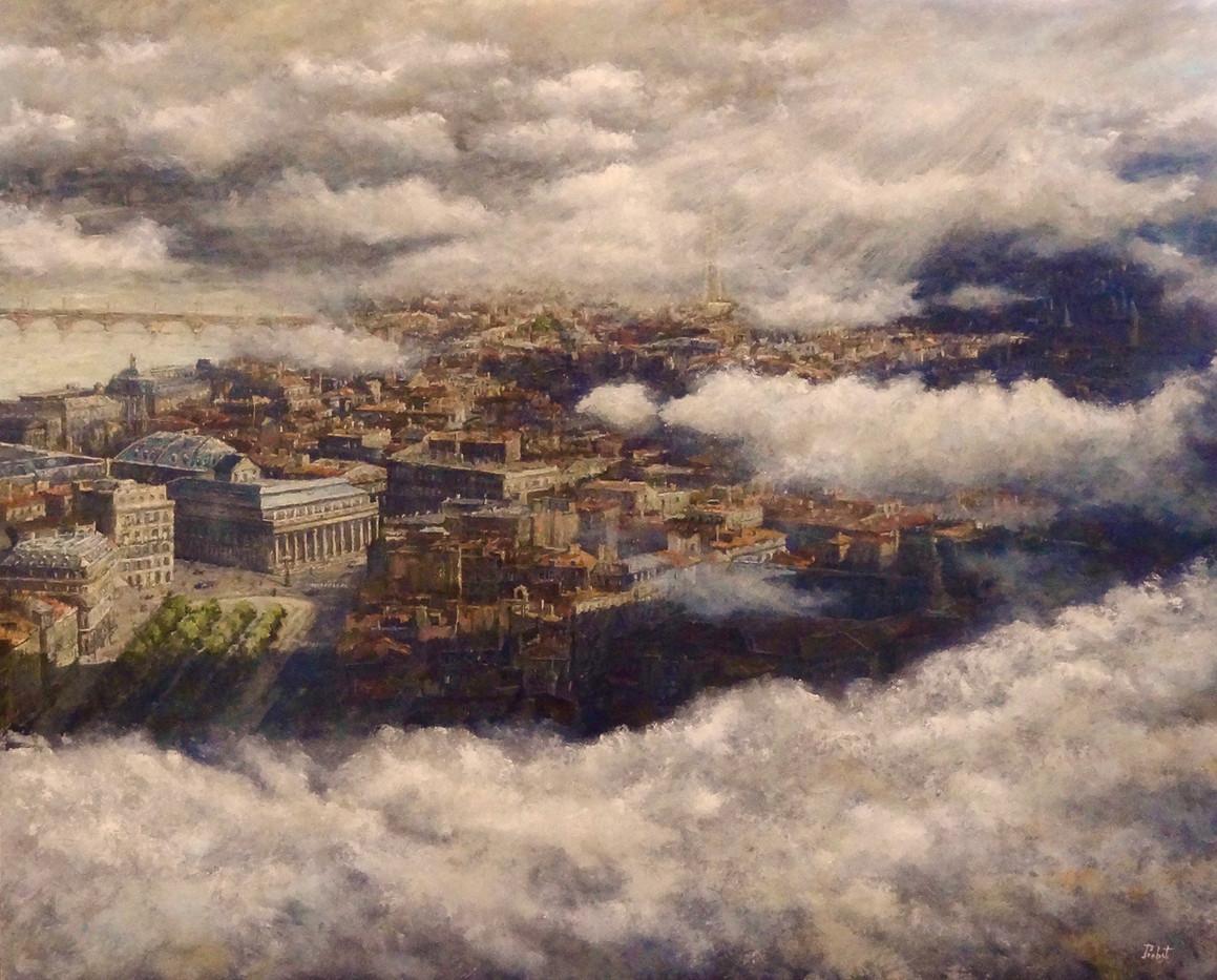 Bordeaux par les nuages