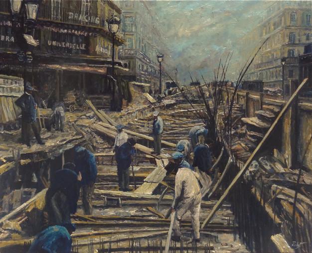 Construction du métro