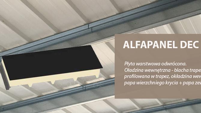 Alfapanel DEC - płyta warstwowa na dachy płaskie