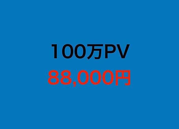 サイト100万PV