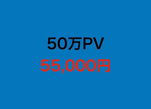 サイト50万PV