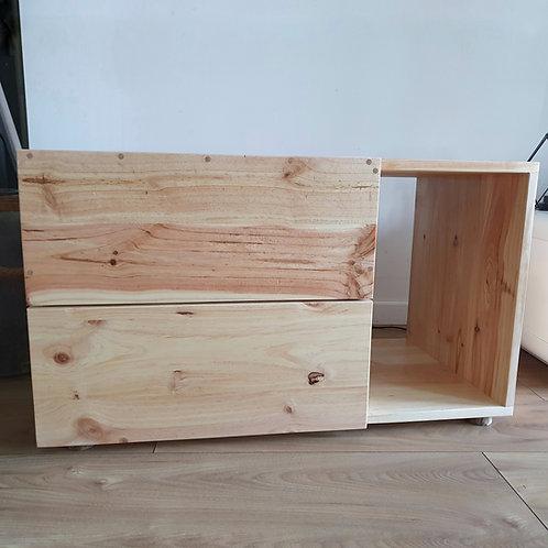 Meuble à litière en pin