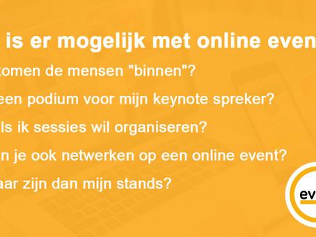 Hoe kan jouw online event met evisit er uitzien?