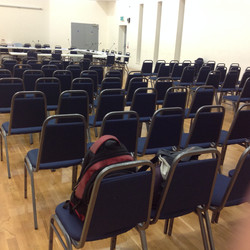 Main hall set for a conference