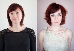 Holly - before and after