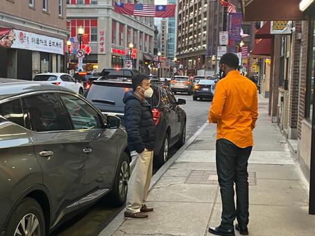 Boston City Council At-Large Candidate Said Abdikarim visits Chinatown
