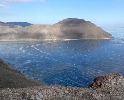 Залив Усть-Ангинский озера Байкал