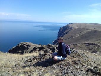 Гора Шебета Ангинская долина Тажеранская степь озеро Байкал