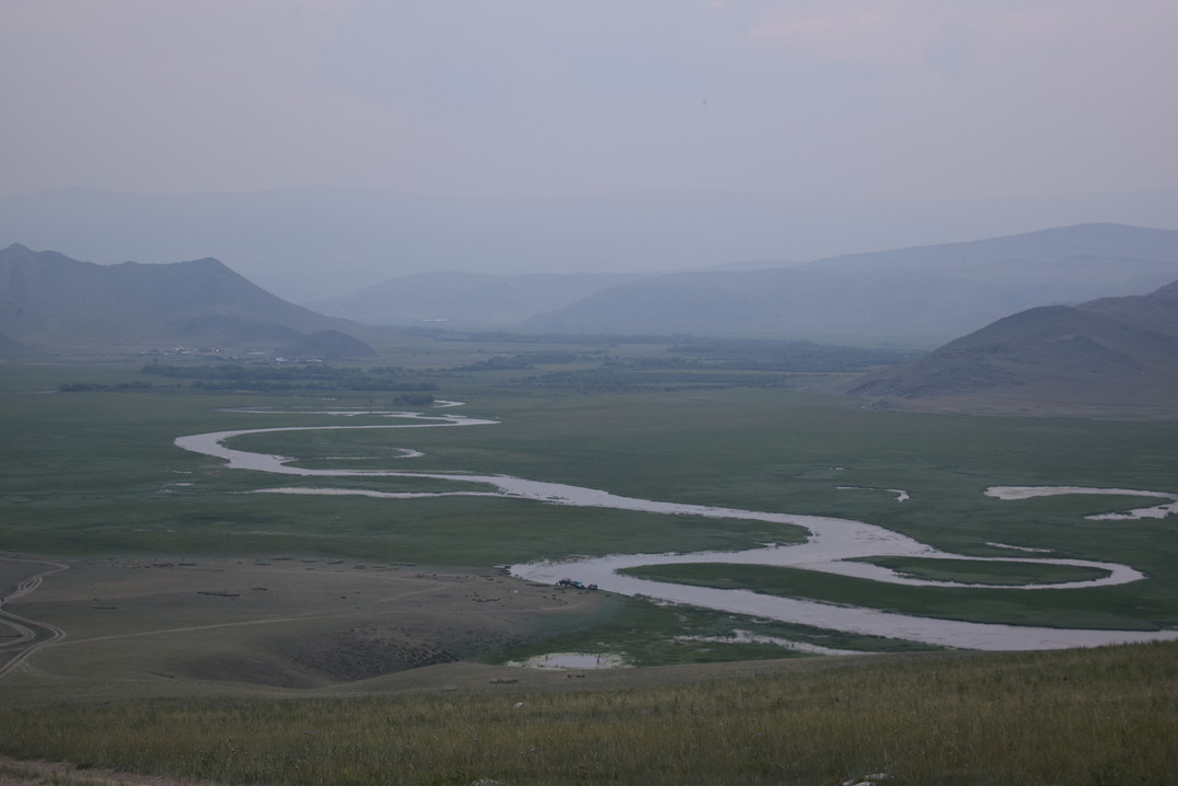 Тажеранская степь. Долина реки Анги