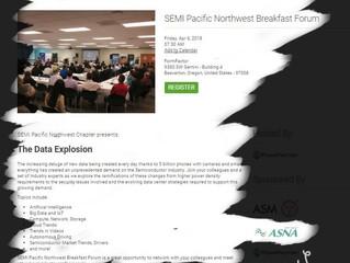 We are a proud sponsor of SEMI 2018 Pacific Northwest Breakfast Forum.