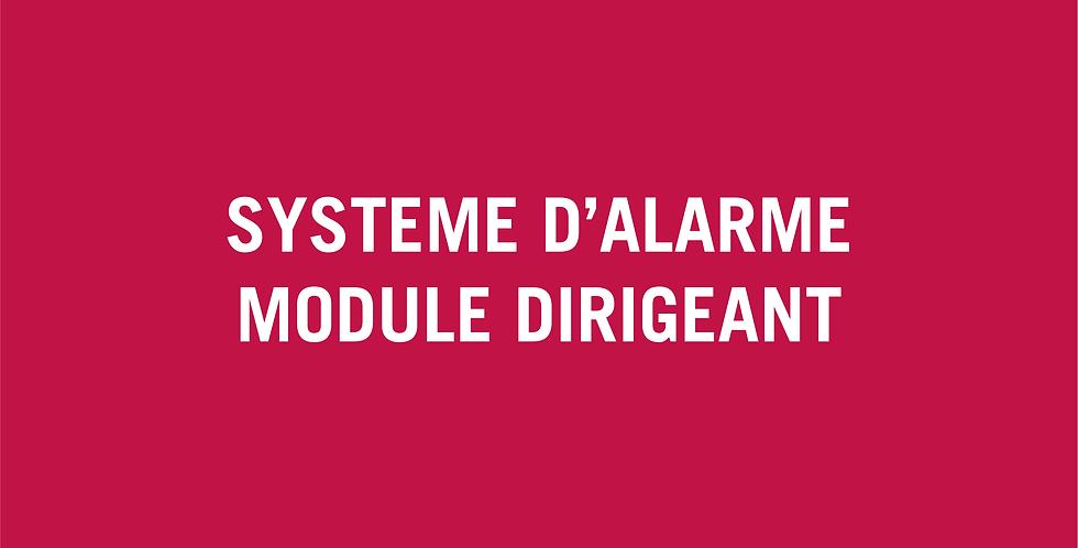 Système d'alarme Base - Module à l'attention des dirigeants