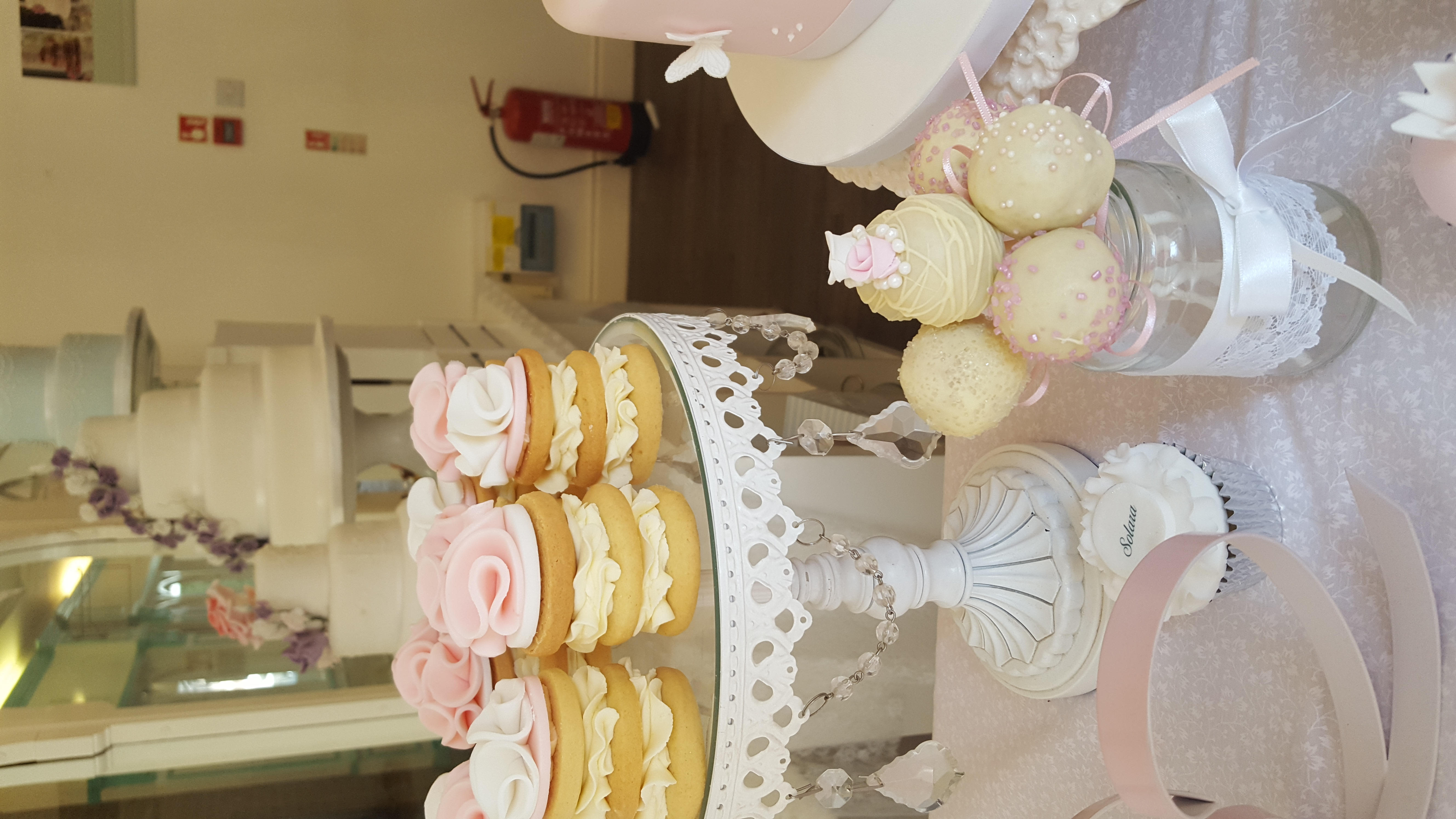 cookie stacks and cake pops