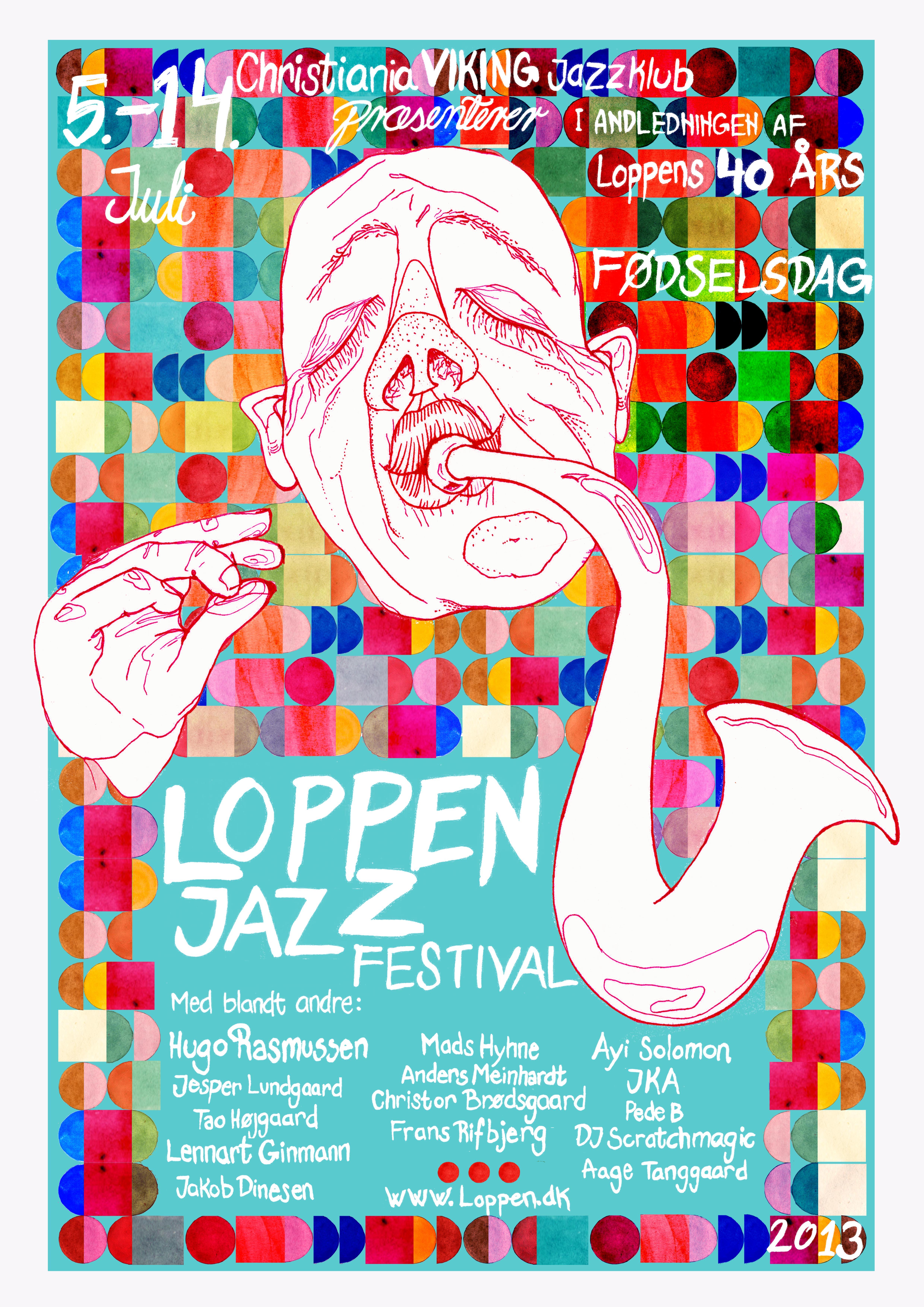 Plakat A2, Loppen, Jazzfestival