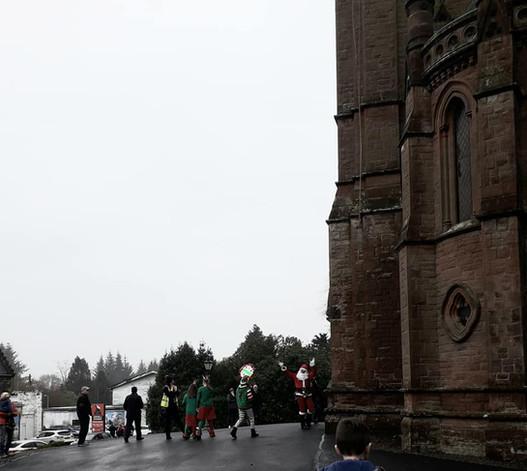 Santa arriving at the 2019 Christmas Festival