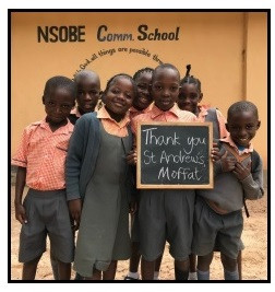 A wonderful thank you from Nsobe Community School