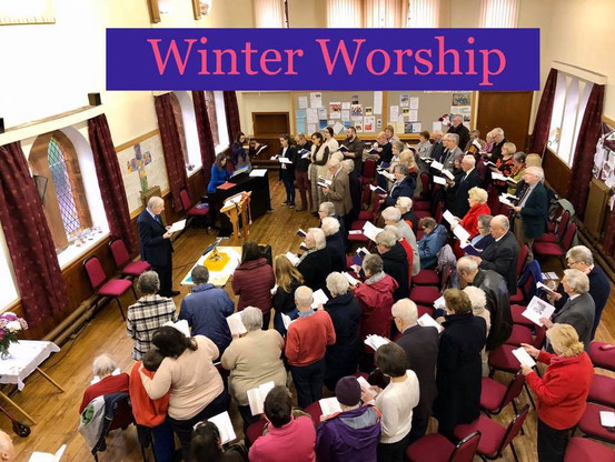 Winter worship in the Church Hall