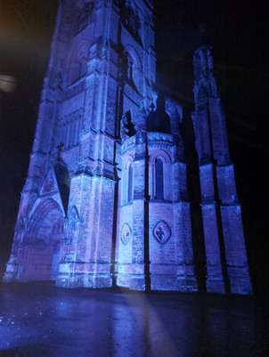 The Church illuminated for the Blue Service