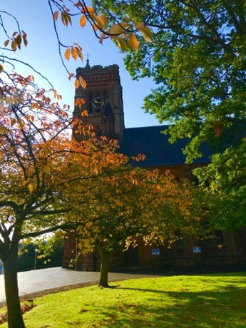 St Andrew's surrounded by beautiful autumnal colours