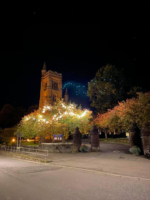 St Andrews Church at night
