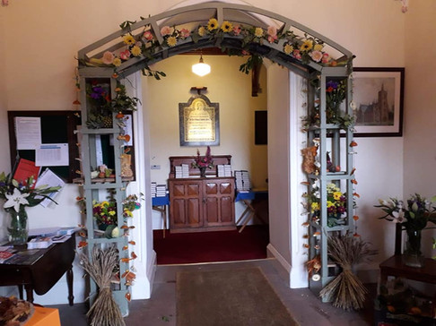 Our Harvest Festival archway