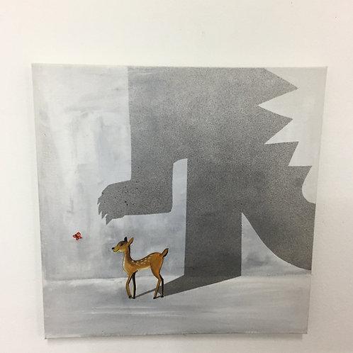 """""""Bambi meets Godzilla"""" by Sasha Kisselkova"""