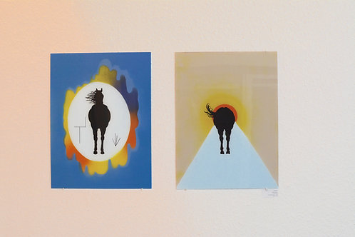 "Katharina Gschwendtner ""Hello and Goodbye"" Diptych"