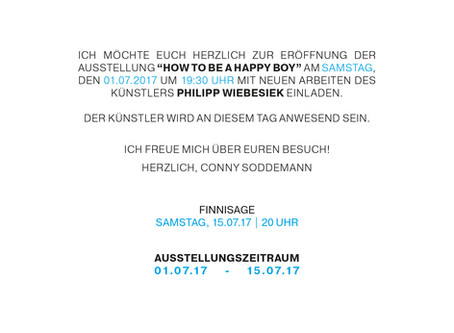 HOW to Be A HAPPY BOY Philipp Wiebesiek