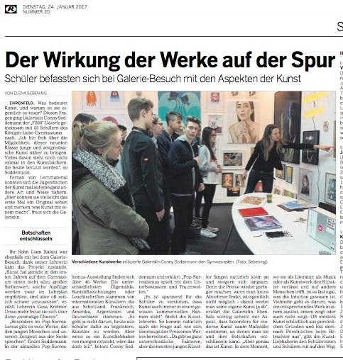 Kölnische Rundschau FB69 Galerie Köln Königin Luisen Schule Popsurrealismus