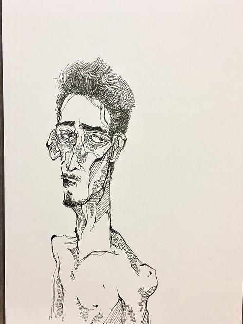 """Original Drawing """"Gedanke #no1"""" by Philipp Wiebesiek"""