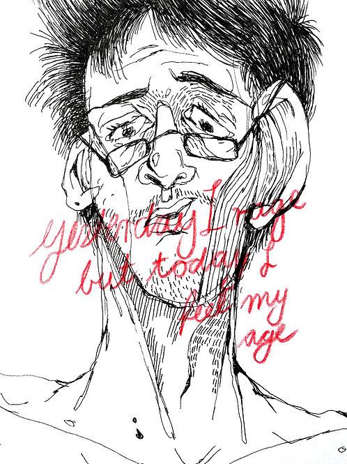 "Original Drawing ""yesterday.."" by Philipp Wiebesiek"