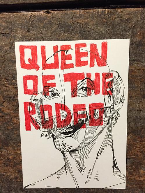 """Original Drawing """"Queen Of The Rodeo"""" by Philipp Wiebesiek"""