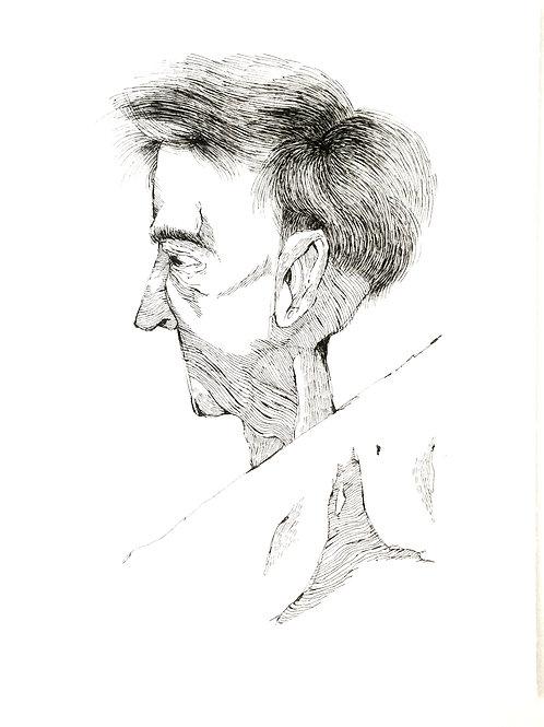 "Original Drawing ""in my neck"" by Philipp Wiebesiek"