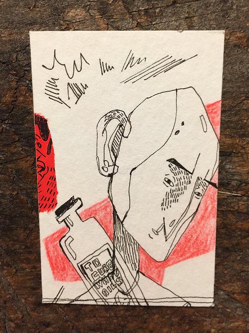 """Original Drawing """"Cure"""" by Philipp Wiebesiek"""