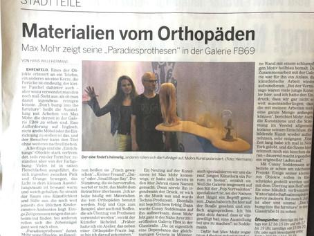 """Rezension unserer aktuellen Ausstellung """"Max Mohr - Don´t bump into the furniture"""" in der Kölnischen"""