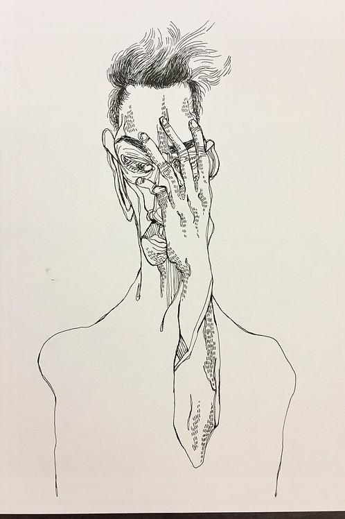 """Original Drawing """"Gedanke  #no2"""" by Philipp Wiebesiek"""