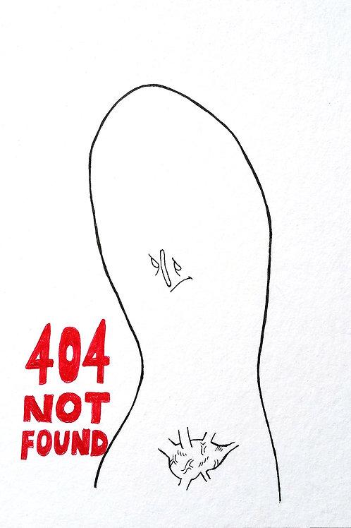 "Original Drawing ""404 NOT FOUND"" by Philipp Wiebesiek"