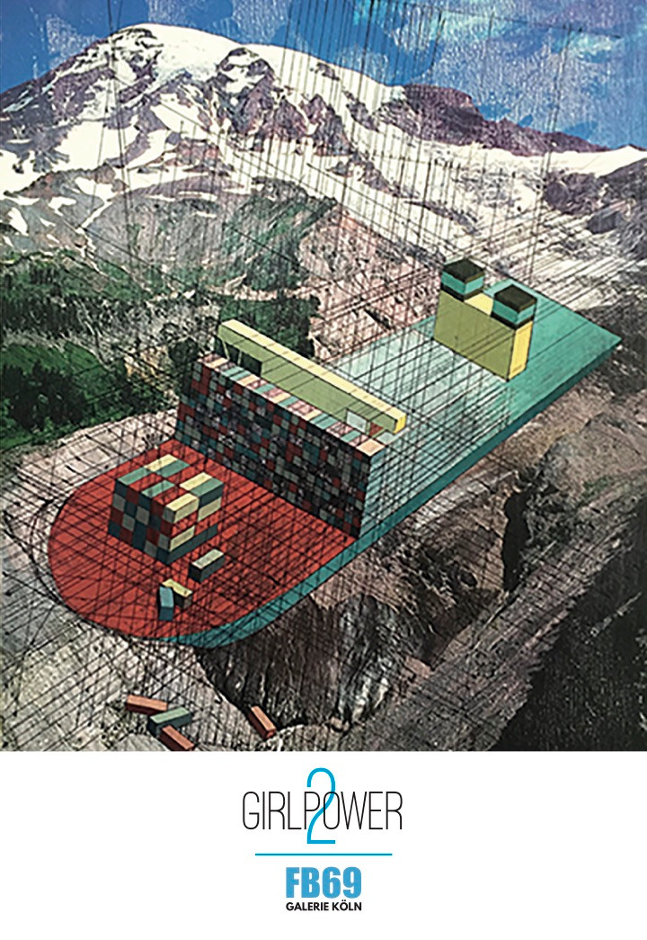 """Mary Iverson: Maersk EEE, Nisqually Glacier"""", Collage, 2015"""