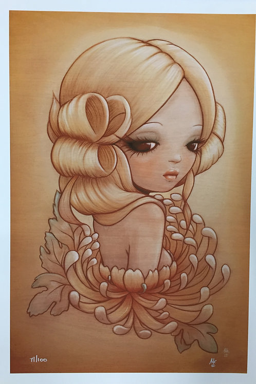 "fine art print ""Golden Flower"" by Anarkitty"