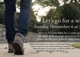Free Community Event: Learn how to walk and meditate.