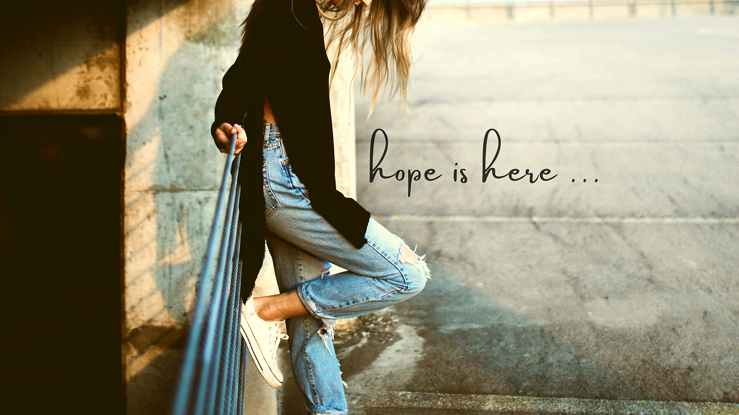 Unveiling Hope. hope is here. A hopeful young woman taking a moment to ponder.