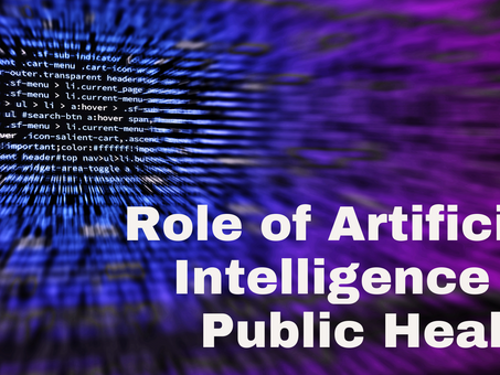 Role of Artificial Intelligence in Public Health