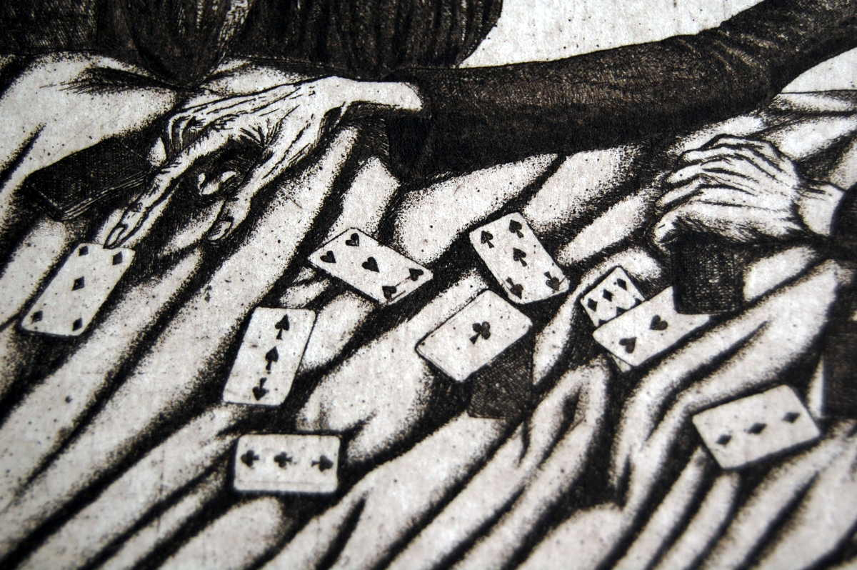 Reading Cards (1998), detail