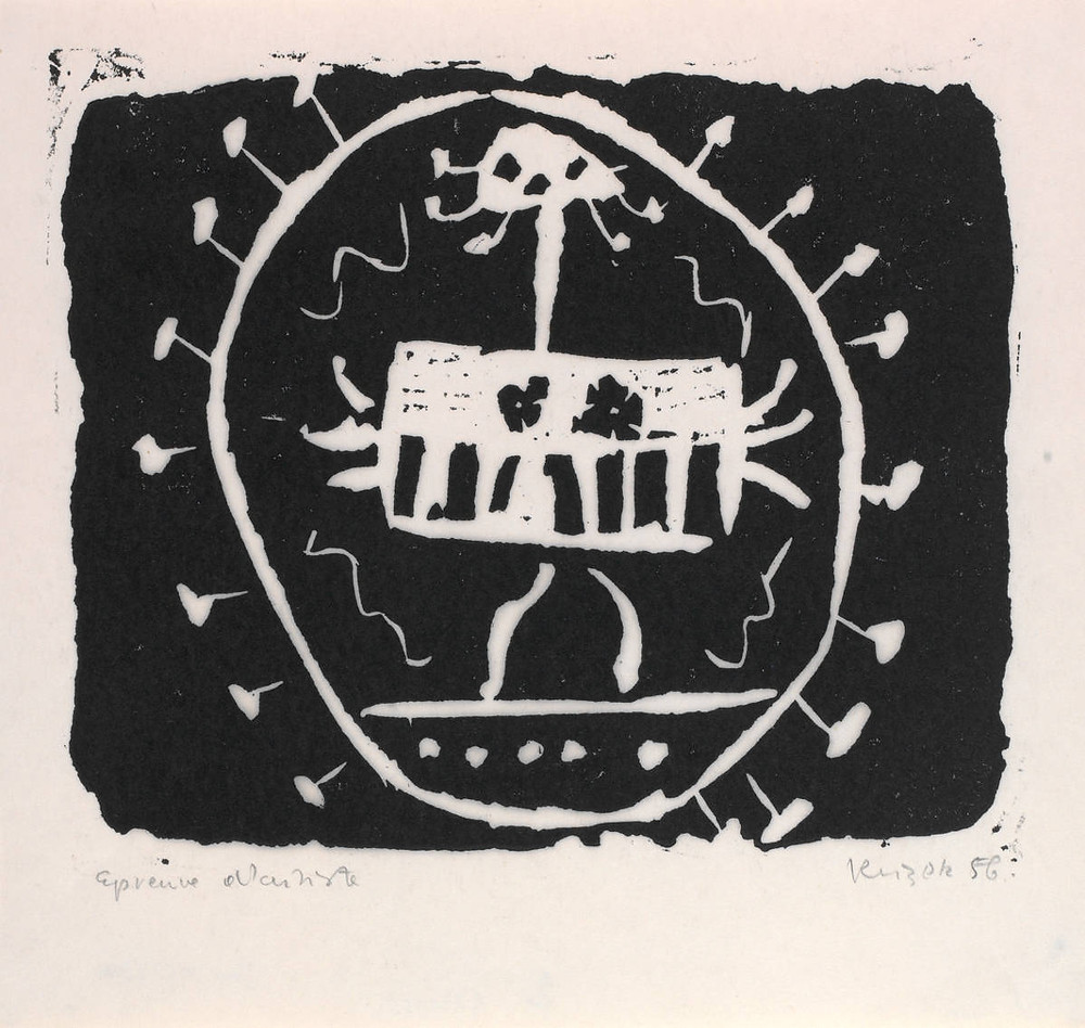 Jan Krizek, Untitled, 1956, linocut