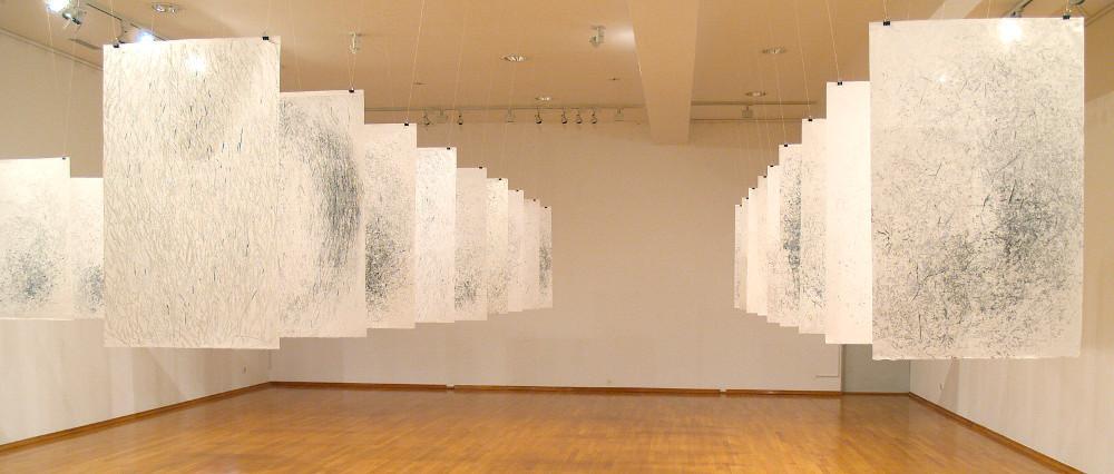 Installation view of Ana Vivoda's Traces, 2012-2013